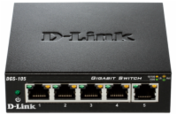 D-Link DGS-105 kovový 5-port 10/100/1000 Switch