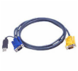 ATEN KVM Cable (HD15-SVGA, USB, USB) - 1.2m