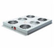Roof cooling unit for DIGITUS server cabinets, 4 Fans, Switch, Thermostat, 552m3 air circ./h Color grey RAL 7035